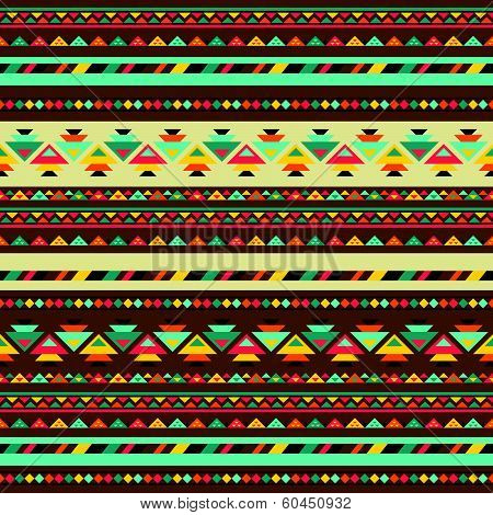 Ethnic seamless pattern in native style. This is file of EPS8 format. poster