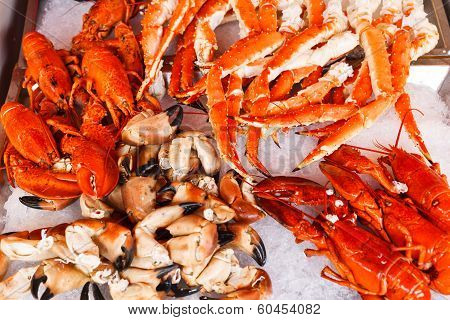 Seafood in Bergen fish market