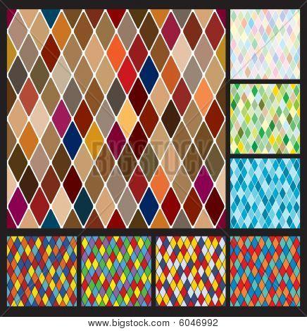 Harlequin pattern set