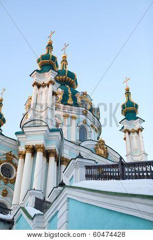 Saint Andrew Orthodox Church In Kyiv, Ukraine