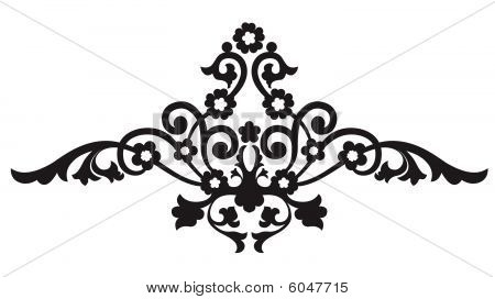 Floral Scroll Ornament