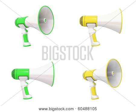 Megaphone Collection Green And Yellow
