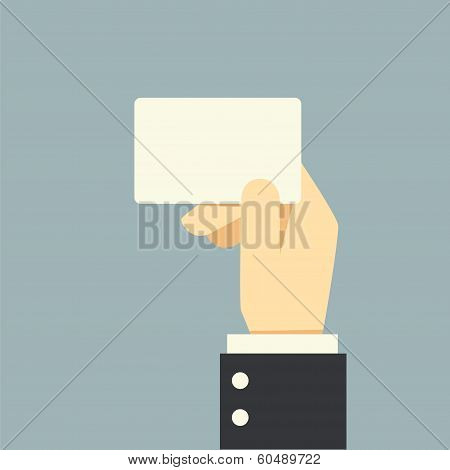 Businessman Hand Holding Card