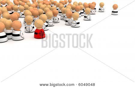 Cartoon Crowd, Target