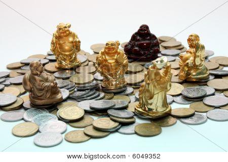 Buddha netsuke and money