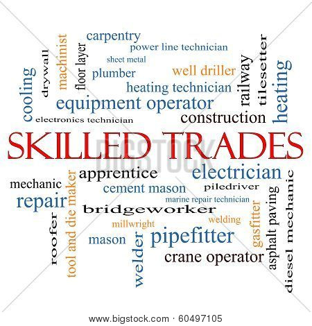 Skilled Trades Word Cloud Concept