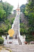 Buddhist temple on the top of a hill at Wat Yan Pattaya Chonburi province Thailand poster