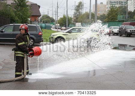 Unknown Russian firefighter
