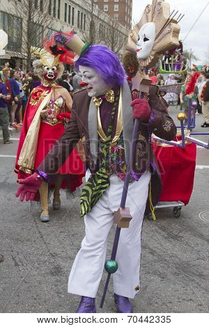 Mardi Gras Parade Clown