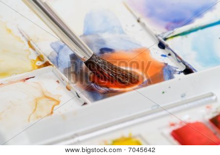 Watercolor Paint Mixing