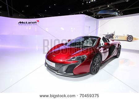 Bangkok - August 19: Mclaren 650S Car On Display At Big Motor Sale On August, 2014 In Bangkok, Thail
