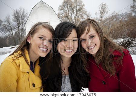 Smiling Young Women Portrait