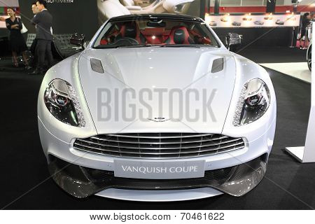 Bangkok - August 19: Aston Martin Vanquish Coupe Car On Display At Big Motor Sale On August, 2014 In