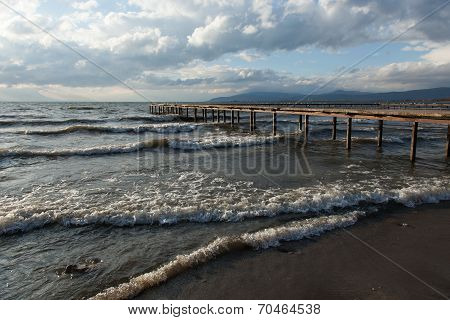 pier on Lake Iznik