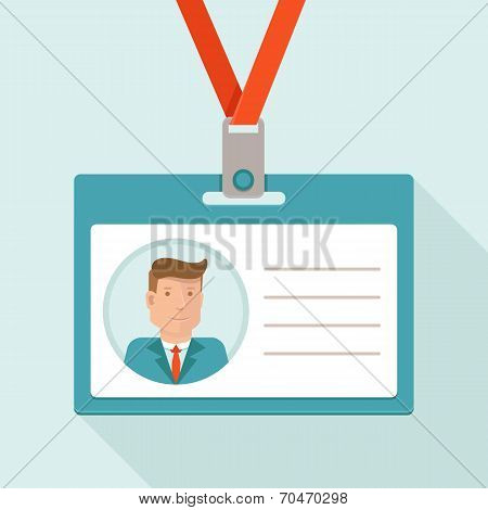 Vector Business Conference Concept In Flat Style