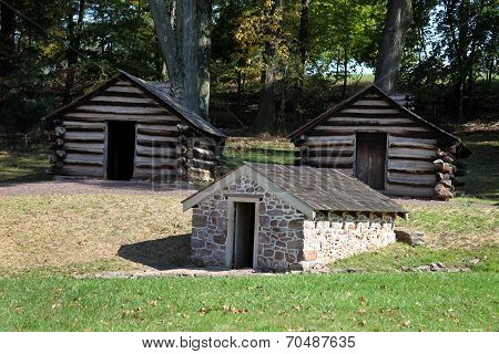 Revolutionary War Cabins & Springhouse - Valley Forge