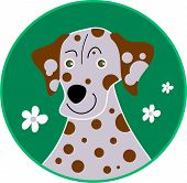 stylised dalmatian with spots poster