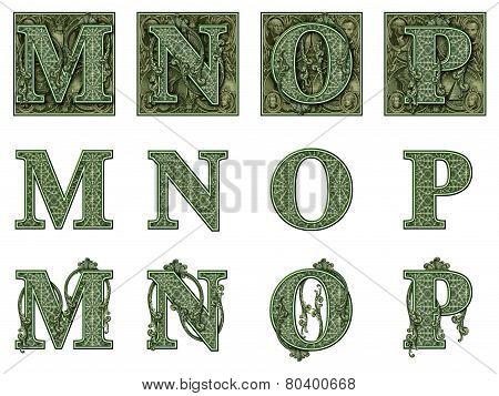 Money Alphabet M To P