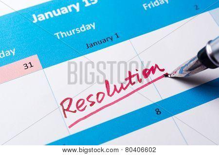Resolution Word On Calendar