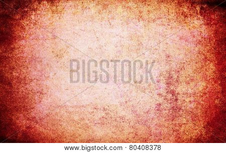 Abstract Red Grunge Texture For Background