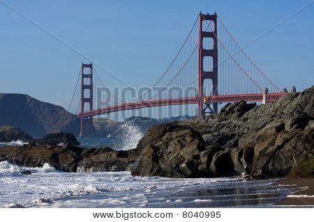 在旧金山的金门大桥