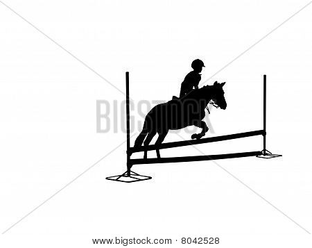 Show Jumper In Silhouette