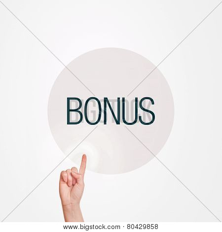 Finger Pushing Bonus Button