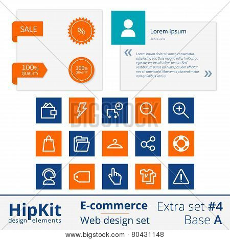 E-commerce web design elements extra set 4