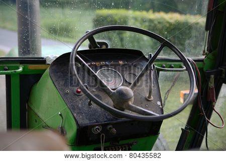 Vintage Tractor Interior