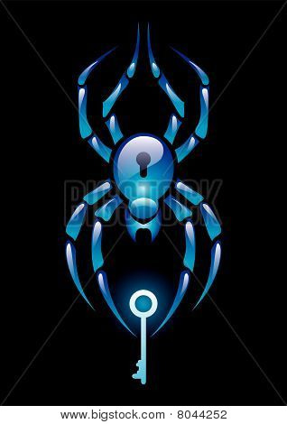 Spider with key