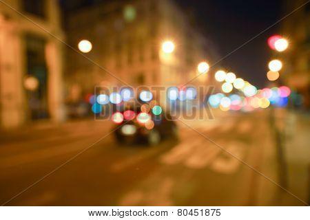 PARIS - SEP 06: defocused Paris background on September 06, 2014 in Paris, France. Paris, aka City of Love, is a popular travel destination and a major city in Europe