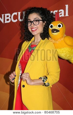 LOS ANGELES - JAN 15:  Carly Ciarrocchi, Chica at the NBCUniversal Cable TCA Winter 2015 at a The Langham Huntington Hotel on January 15, 2015 in Pasadena, CA