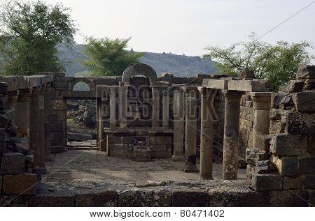 Ancient Synagogue Umm El Kanatir, Israel