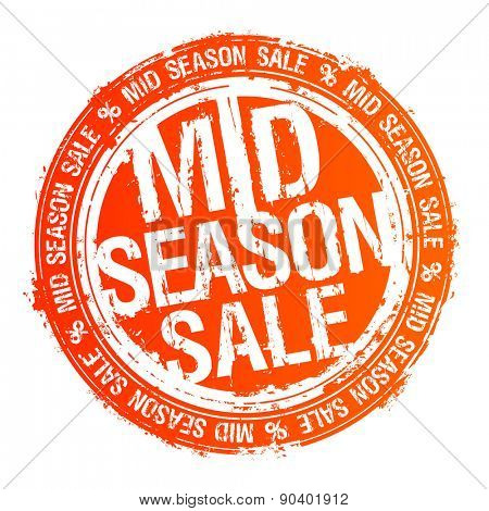 Mid season sale rubber stamp.