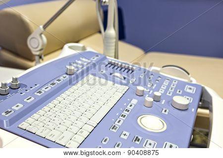 Interior Of Examination Room With Ultrasonography Machine