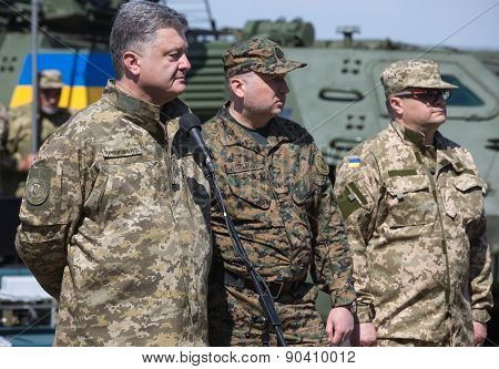 President Of Ukraine Petro Poroshenko At The Training Center Of The Land Forces