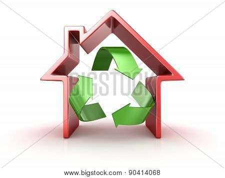 Recycle Symbol In House