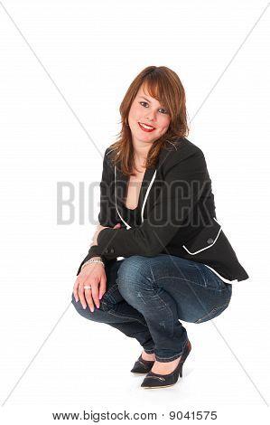 Happy Cower Girl