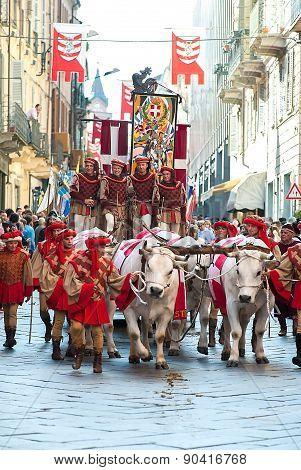 Parade During The Palio