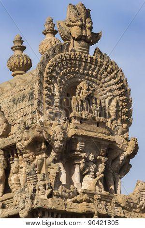 Short Side Of The Gopuram Apex.