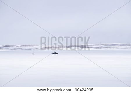 Frozen Lake Fishing