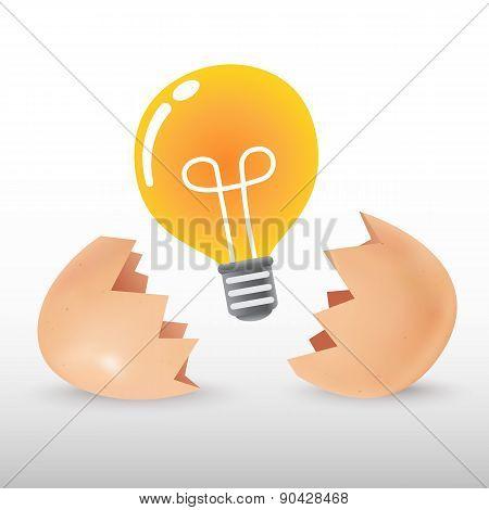 Light bulb from egg