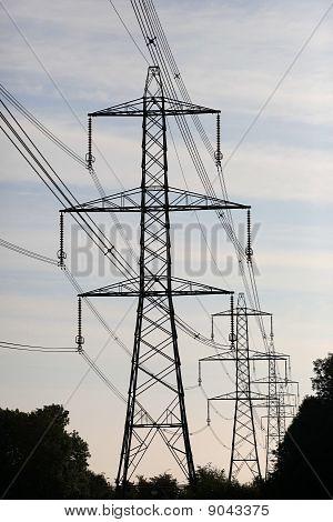 Power Pylons Silhouette