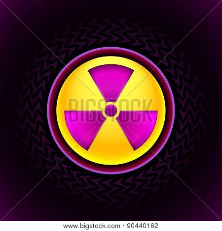Sign Of Radiation Pink