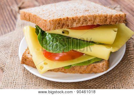 Fresh Made Cheese Sandwich