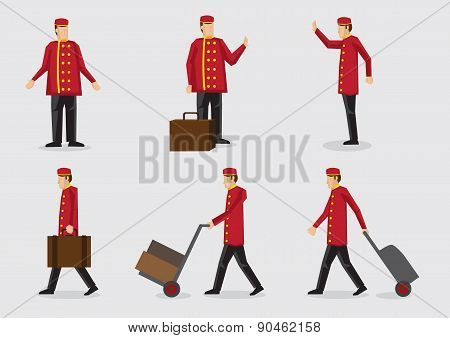 Hotel Doorman Character Illustration