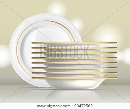 Porcelain Plates Set 1