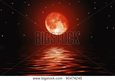Big Bloody Red Moon And Stars