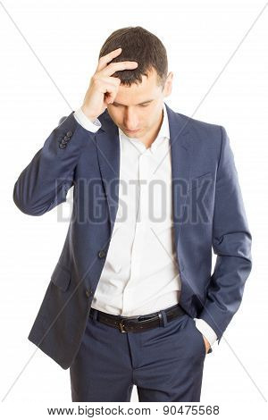 Frustrated Businessman Thinking