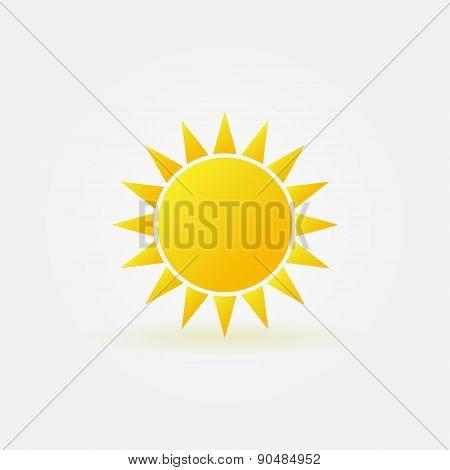 Yellow sun logo or icon